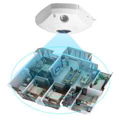 Cctv-IP-Kamera panoramische WiFi Kamera Fisheye 3D Überwachung-Überwachungskamera IR-Nachtsicht