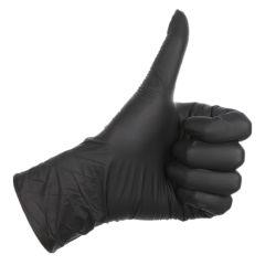 Schwarzes Puder-freie Nitril-Handschuhe für den Schönheits-Salon medizinisch und Hausarbeit