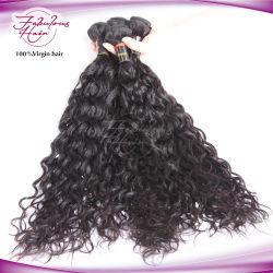 Необработанные естественного цвета 12A Virgin естественных волн плетение волос
