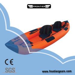 4m/PVC Material Hypalon naranja de dos personas para la competición de Kayak