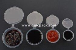 Tazza di plastica della salsa con il coperchio 1oz, 1.5oz, 2oz, 3oz, 4oz per il ristorante