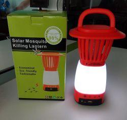 이동 전화 충전기를 가진 휴대용 태양 강화된 모기 살인자 빛