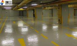 Utilização concreta piso epóxi o Putty