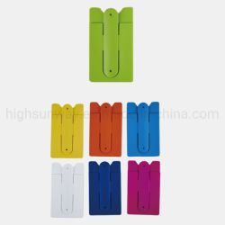 Silicona adhesivo 3m el teléfono móvil Teléfono de alta calidad adhesiva de silicona titular de la tarjeta de crédito