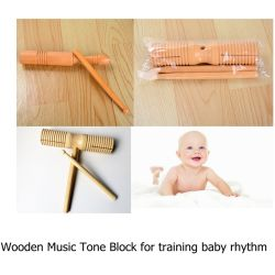 Wooden Kids Musical Instrument Rhythm Band Music Tone Block Mallet Toys