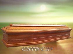 工場供給の専門の安い純木のサテンの棺