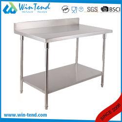 Worktable rotondo registrabile industriale del buffet dell'hotel del tubo dell'acciaio inossidabile con la barra di rinforzo