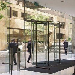 향상된 사치품 4 날개 건물을%s 모든 유리제 자동적인 회전문