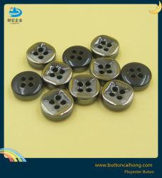Camisa do botão de plástico de galvanização e botão de resina de laser para homens de roupa