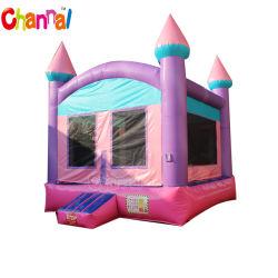 Rosa de puente de inflables inflables Princess Bouncer rebote de la casa