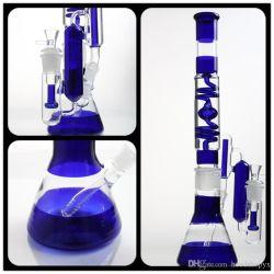 Plataforma de vidro do tubo de óleo do tubo do tubo de fumar com filtro diferente Copo Azul e incrível o vidro do filtro do tubo de água os tubos de vidro