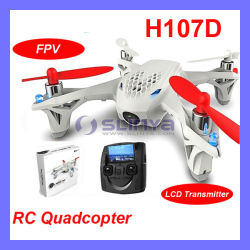 De nieuwe Helikopter Camera LCD Transmitter Drone Helicopter van de Vierling van Toy 2.4G 5.8g Live Video Audio Streaming Recording Hubsan X4 H107D Fpv RC (FLY601)
