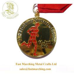 preço de fábrica Custom Race Medalhas Troféus executando o medalhão em mosaico