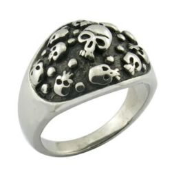 Bague Crâne Siteel crâne Fashion bijoux artisanaux de sonnerie