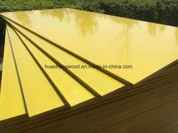 Hoja de madera contrachapada de plástico de color amarillo de contrachapado de madera contrachapada Marina PP
