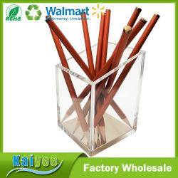 熱い販売標準的なデザインアクリルの金の鉛筆およびペンのホールダー