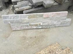 Hebei P014 Beige-Pink-gris pizarra, baldosas de piedra para el Revestimiento de pared