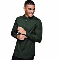 적당한 남자의 긴 소매 사업 셔츠 우연한 셔츠를 체중을 줄이십시오