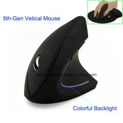 Беспроводная мышь эргономичный оптический 2.4G 800/1200/1600dpi красочные лампа запястья лечение вертикальной мыши