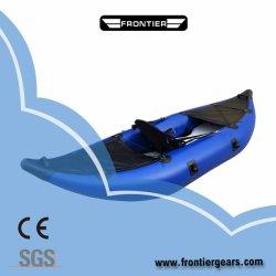 Kurbelgehäuse-Belüftung Roter/Gelb-/blaue Farben-aufblasbares Kajak-Fischen-Sport-Boot