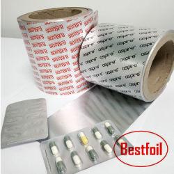 Type de rouleau d'aluminium et de l'usage pharmaceutique la plaquette thermoformée comprimés comprimés capsules l'emballage