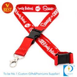 고품질 중국 홍열 전달 염료 승화 인쇄끈 프로모션 선물용 안전 버클 클립 포함