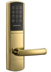 Het Gouden Elektronische Slot van de Deur PVD dat door Wachtwoord of Kaart Emid wordt geopend
