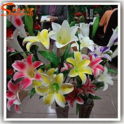 Décoration maison Fleur de Lys artificielle en plastique