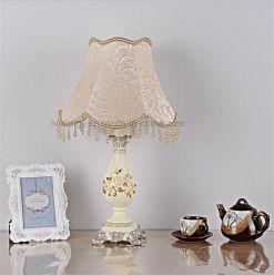 Un style simple chiffon matériau en résine lampe de table de lit décoratives à l'ombre
