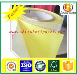 Version papier de silicone 62g-Jaune Du papier de base