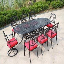 Bianco della mobilia alla mobilia del patio dei classici del giardino