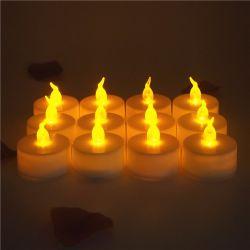 مصباح LED كهرمانبي بلا فلاميتضوء، يعمل بالبطارية، يعمل بشكل واقعي