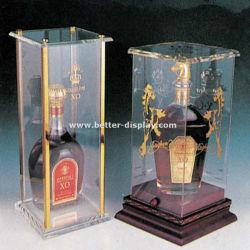 투명 플라스틱 싱글 와인 유리 상자