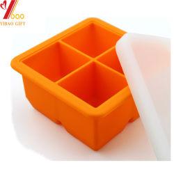 Vassoio personalizzato per cubetti di ghiaccio in silicone per alimenti con coperchio