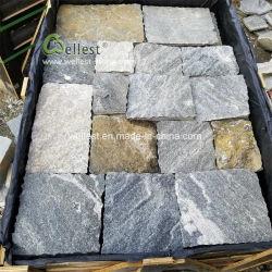 مرو أردواز حجارة [كلدّينغ], عشوائيّة مربّعة حجارة قشرة لأنّ خارج جدار