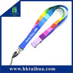 Hot Sale coloré Long Cordon tissé avec logo personnalisé étiquette