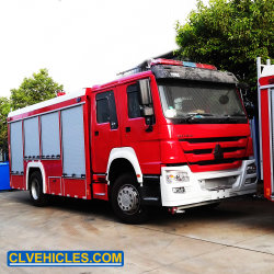 HOWO 8M3 12 سم2 10 سم2 مكافحة الحريق من تانكر المياه الرغوية شاحنة الإطفاء