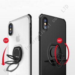 360 Grad-drehender Ring Kickstand magnetischer Shockproof Fall für iPhone 8