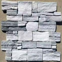 SMC-Cc178 marmo bianco grigio cemento retro Stacked Ledge Stone