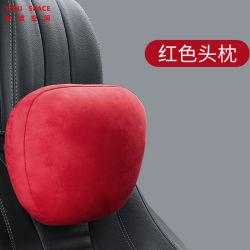 Objectivo Universal Deerskin de alta qualidade de tecido de veludo carro cinza do encosto do assento de pescoço travesseiro travesseiro Cervical-de-cabeça do carro