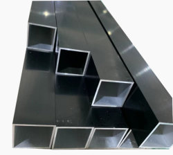 Kundenspezifisches Aluminium/Aluminum-Profil-Quadrat-Schwarzeloxieren-Rohr/Gefäß /Tubing