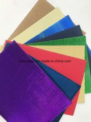 Bricolaje de papel ondulado de color de papel artesanal