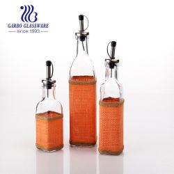 3PCS Galheta Óleo Vinagre de vidro para uso doméstico condimento utensílios garrafa de vidro com rolha tz3-GB2503ad)
