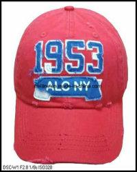 Anzyme piedra lavada roto bordado personalizado Baseball Hat