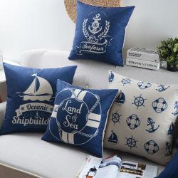 Yrfのホテルの製品牧歌的な様式の綿のリネン居間のクッション