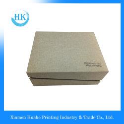 Quadratischer Papierluxuxkasten bereift Geschenk-Verpackungs-Pappfarben-Drucken