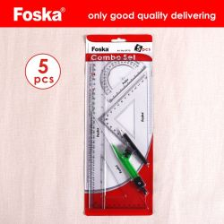 Foska の文房具のオフィス良質のブリスターカードのパッキング学校の定規セット