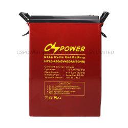 Cspower Htl6-420 6 voltios y 420 Ah batería de gel de ciclo profundo/alta temperatura-Deep-Cycle-Miantenace-Free-pila/batería Solar-Panel Low-Discharge-