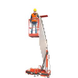 4m 6m 8m 10m 12m 14m para portátiles de aleación de aluminio tipo mástil hidráulico de un solo hombre trabajos aéreos plataforma de elevación