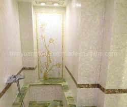 Mãe de Pearl White mosaicos de Shell para a decoração de paredes, painel contra salpicos